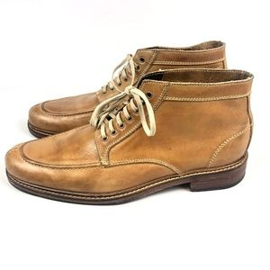 Cole Haan 7-Eye Lace Up Leather Chukka British Tan